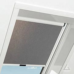 Штора Roto ZRE на направляючих для мансардних вікон Сонцезахисна шторка Рото шторы ROTO Exclusiv ZRE E 94*140 см