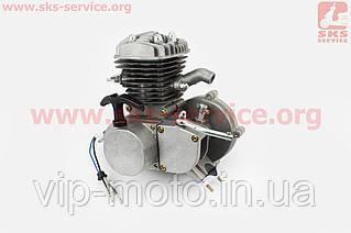 Двигатель велосипедный 2Т с ручным стартером, СЕРЫЙ