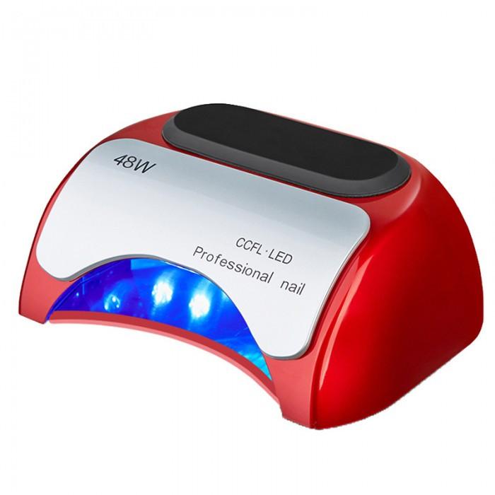 УФ лампа для нігтів Beauty nail 18K CCFL LED 48W сушарка сенсор Червоний