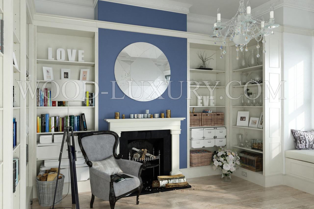 Настенное панно зеркальное диаметр 1280мм (R6-2). Столы обеденные.