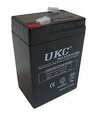 Аккумулятор свинцово-кислотный UKC 6V 4.5Ah 645