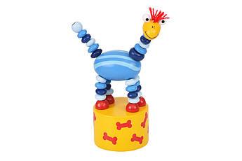 Игрушка goki нажми и тряси Динозавр синий 53948G-1