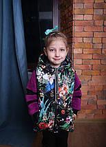 Жилет на синтепоне для девочки Детская жилетка с капюшоном, фото 2