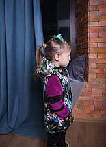 Жилет на синтепоне для девочки Детская жилетка с капюшоном, фото 3