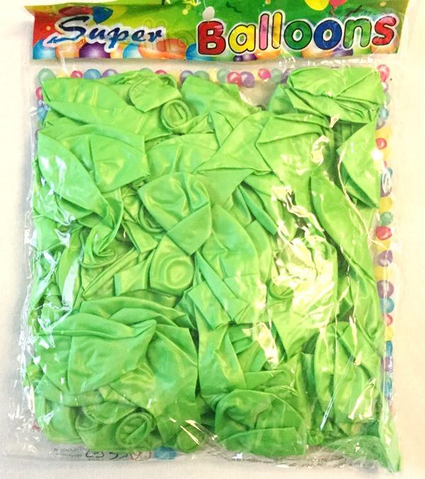 Воздушный шар металлик салатовый 12″/30 см