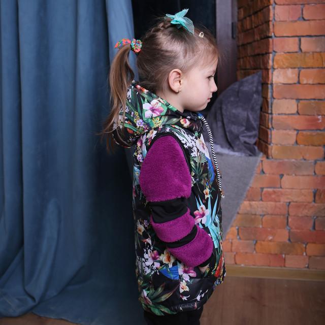 Детская жилетка купить Жилет на девочку Жилет для девочки Жилет теплый Жилет весенний Жилет осенний Жилетка для девочки в Украине