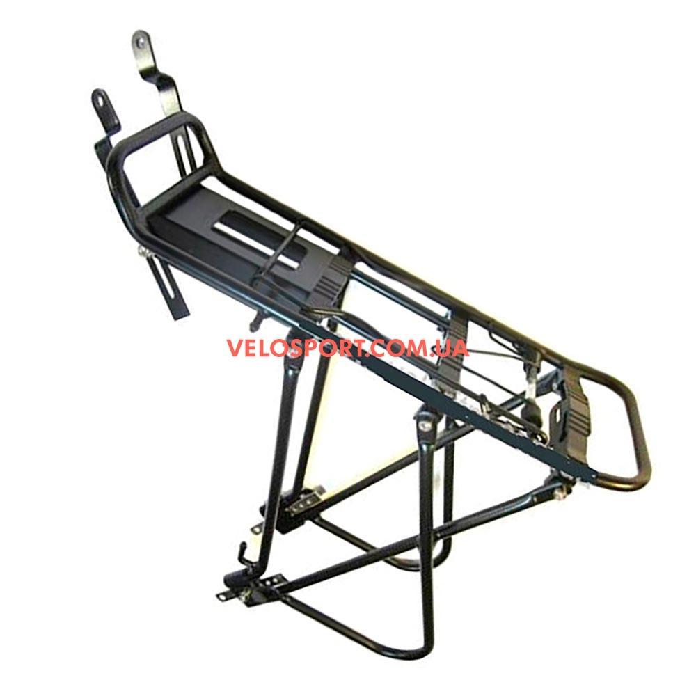 Велосипедный багажник VZ-15 многофункциональный усиленный черный