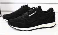 Кроссовки REEBOK черные замшевые , фото 1