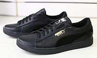 Кеды PUMA кожаные черные , фото 1
