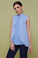 Блакитна блузка з шифону