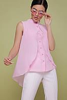 Рожева блузка без рукавів