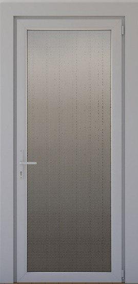 Дверь металлопластиковая межкомнатная  с декоративным стеклом