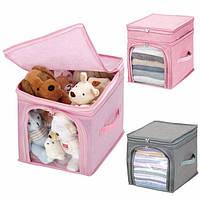 Кофр - органайзер для игрушек и вещей Бамбук розовый