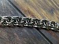Серебряная цепь Плоский (классический ) Бисмарк. 55 см. Вес 42,2 гр. Ручное плетение. 925 проба, фото 3