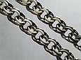 Серебряная цепь Плоский (классический ) Бисмарк. 55 см. Вес 42,2 гр. Ручное плетение. 925 проба, фото 4