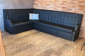 Диван со спальным местом для большой кухни (Чёрный)