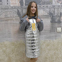 Серебристый худи для девочек, фото 1