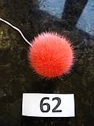 Меховой помпон Норка, Коралл, 4 см, 62