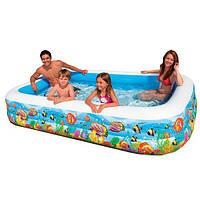 Надувной детский бассейн Intex 58485, 305х183х56 см