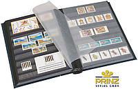 Альбом для марок Prinz - 48 страниц - черная обложка