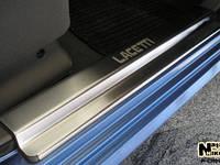 Накладки на пороги Premium Сhevrolet Lacetti 5D 2004-
