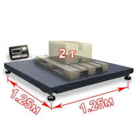 Весы платформенные для европаллет 1250 х 1250 мм, фото 1