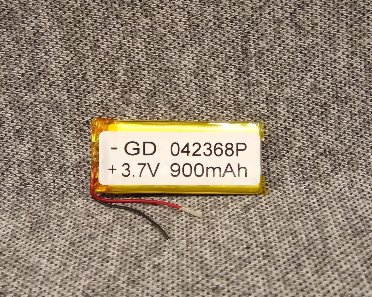 Литий полимерный аккумулятор 042368 3.7V 900mah