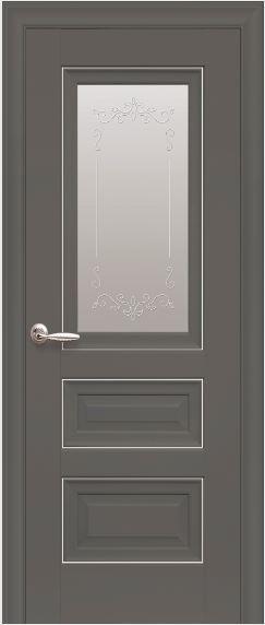 Межкомнатная дверь со стеклом сатин STATUS