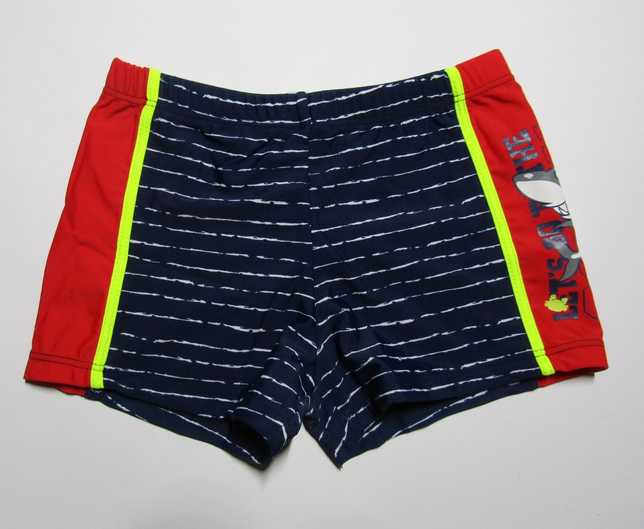 Детские плавки-шорты для мальчика Teres Темно-синий + красный
