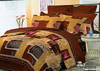 Двуспальный комплект постельного белья «Модная сумка» 178х215 см из полиэстера