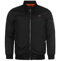 Куртка чоловіча бомбер Lee Cooper Чорна. MA 1 Jacket SnC99