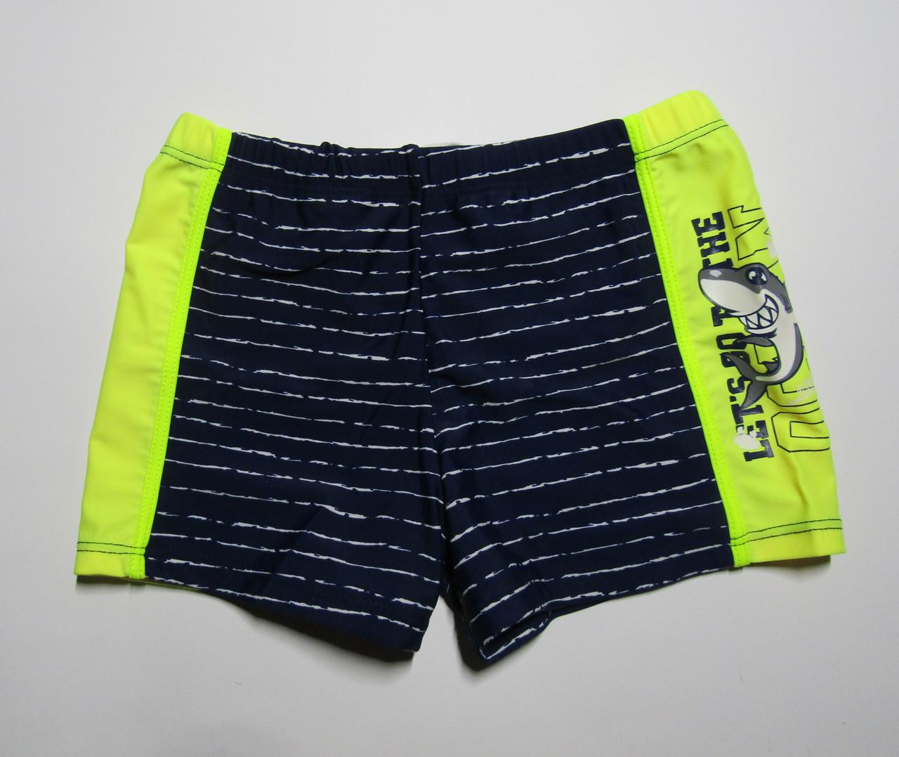 Детские плавки-шорты для мальчика Teres Темно-синий + желтый