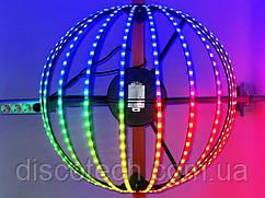 Полусфера полюс-2, диам- 720мм, 12лучей, 32пикс/луч, шаг-32 (384пикс, 108W, БП-130W/5V-1шт)