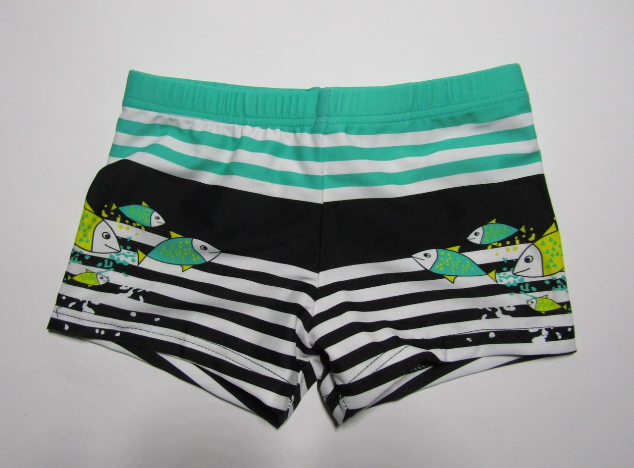 Детские плавки-шорты для мальчика от 2 лет Зеленый + черный