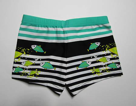 Детские плавки-шорты для мальчика от 2 лет Зеленый + черный, фото 2