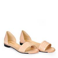 Женские кожаные туфли балетки босоножки TIFFANY