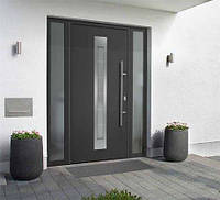 Двери входные с остеклением Thermo65 Ultramatt Deluxe Hormann, фото 1