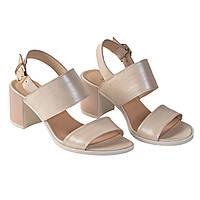 Жіночі шкіряні туфлі, босоніжки на підборах TIFFANY