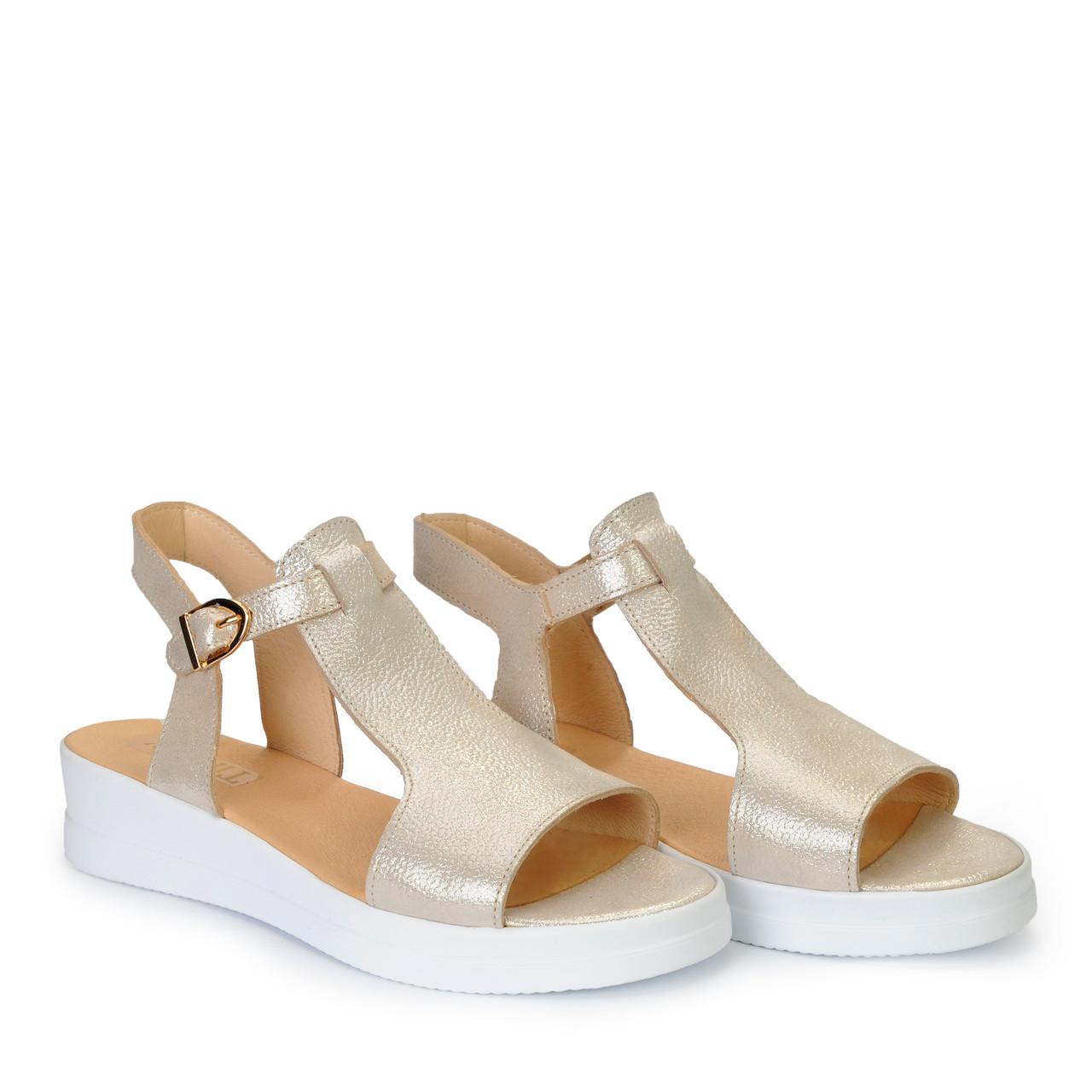 ba22e18bb16 Женские кожаные туфли босоножки сандалии на танкетке платформе TIFFANY:  продажа, ...