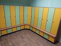 Двухъярусный шкаф 5-секционный, 10-ти местный с тумбой для обуви Design Service (1111-1)