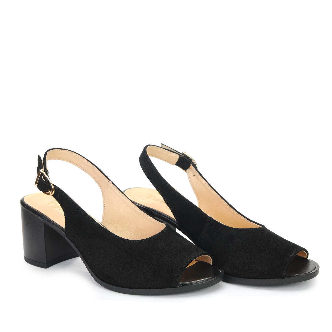 Жіночі шкіряні туфлі, босоніжки, сандалі на танкетці платформі підборах TIFFANY