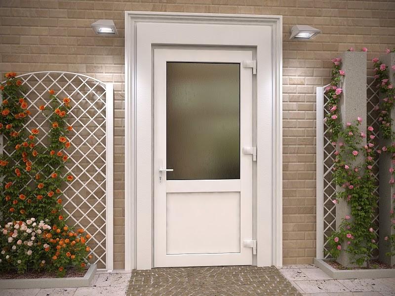 Дверь входная металлопластиковая