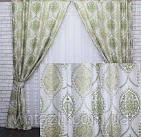 Красивые льняные  плотные шторы от производителя