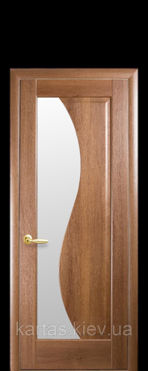Дверное полотно Эскада Золотая Ольха со стеклом сатин