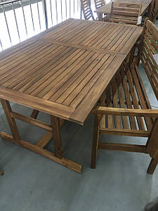 Раскладной деревянный стол для сада 210*90 см.