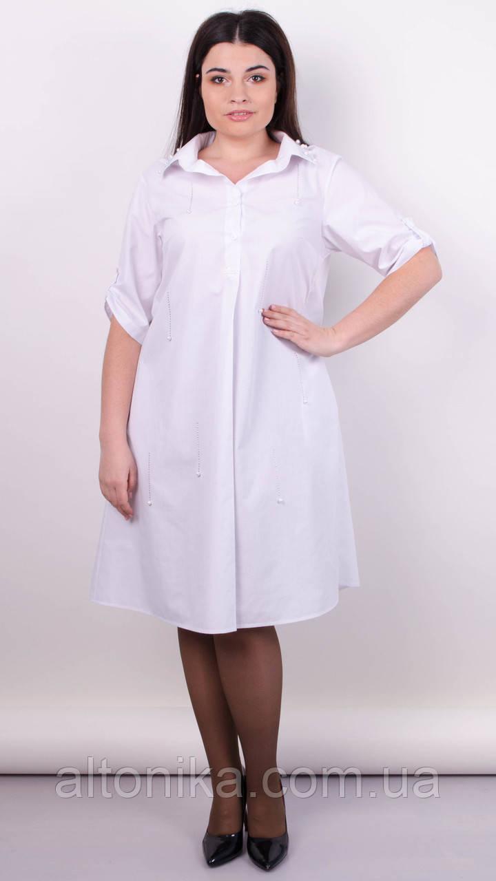 Пальмира. Стильное платье-рубашка plus size. 50-52, 54-56