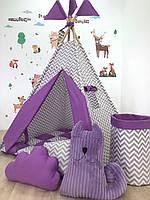 Детский вигвам «Чеширский кот» с ковриком и подушечкой