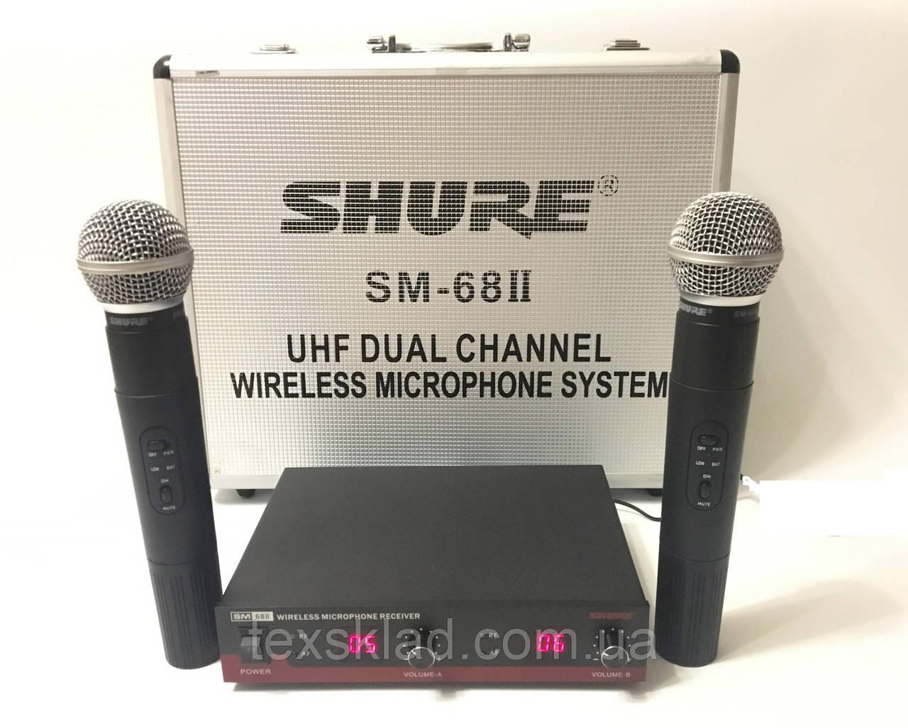 Беспроводные микрофоны SHURE SM 68-2