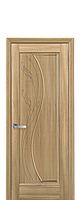 Дверное полотно Эскада Золотой Дуб глухое с гравировкой