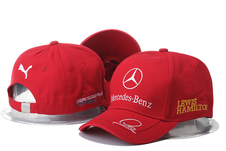 "Кепка бейсболка ""Mersedes-Benz Lewis Hamilton"" червона"